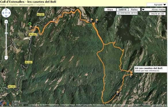 Ruta Coll d'Estenalles - casetes del Bofí